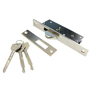 Nickel & Chrome Plated Cross Key Door Lock D102